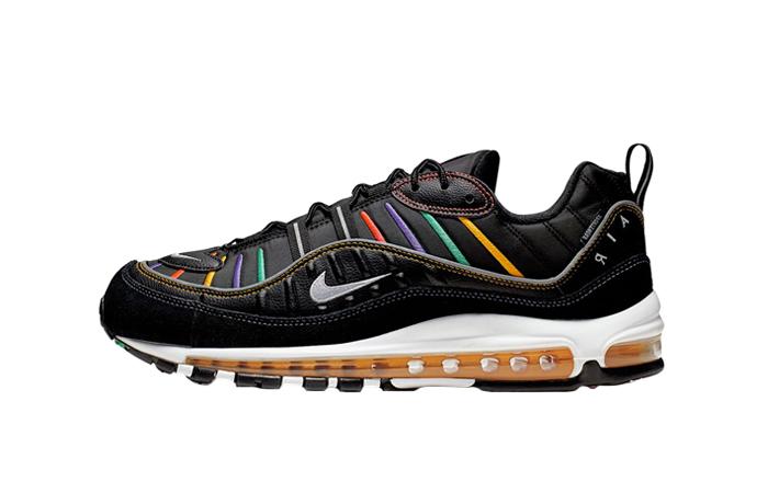 wholesale dealer 245eb 8c365 Nike Air Max 98 Black Multi BV0989-023
