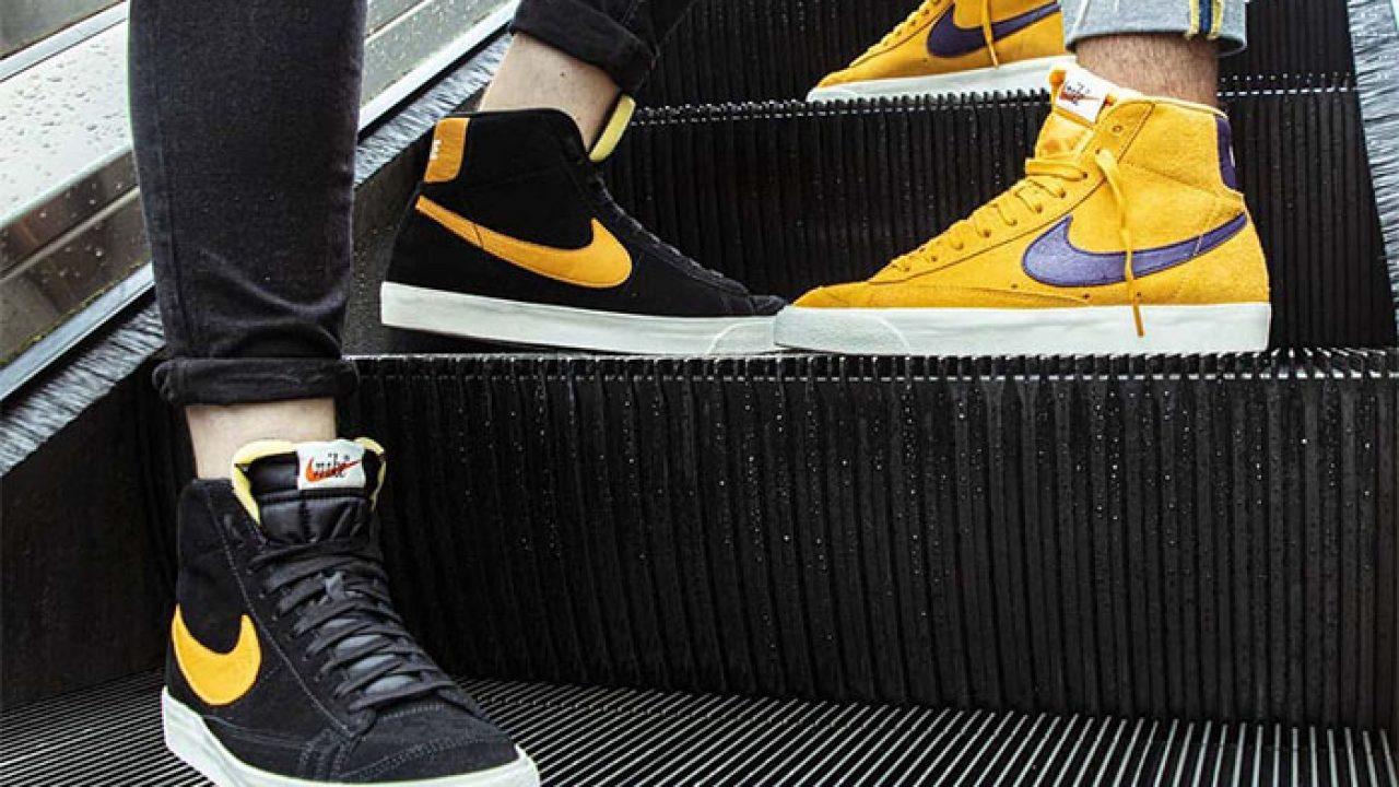 Nike Blazer Mid 'Black' And 'Yellow