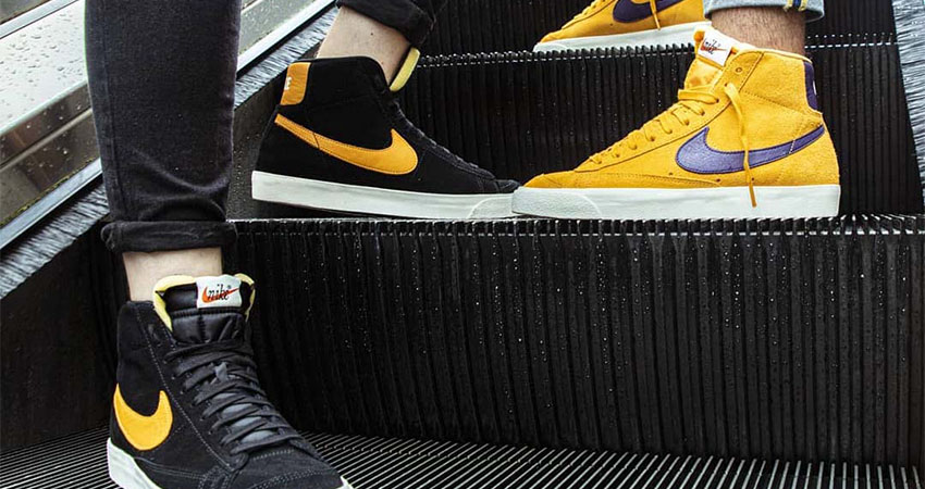 Nike Blazer Mid 'Black' And 'Yellow' Available In FootLocker UK