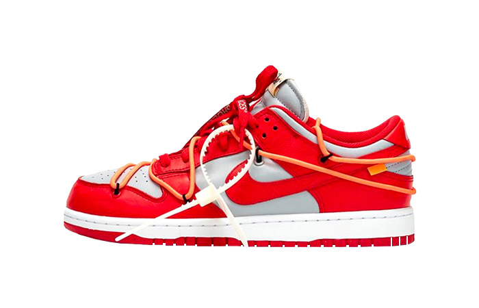 Off-White Nike Dunk Low Red Grey CT0856-600 01