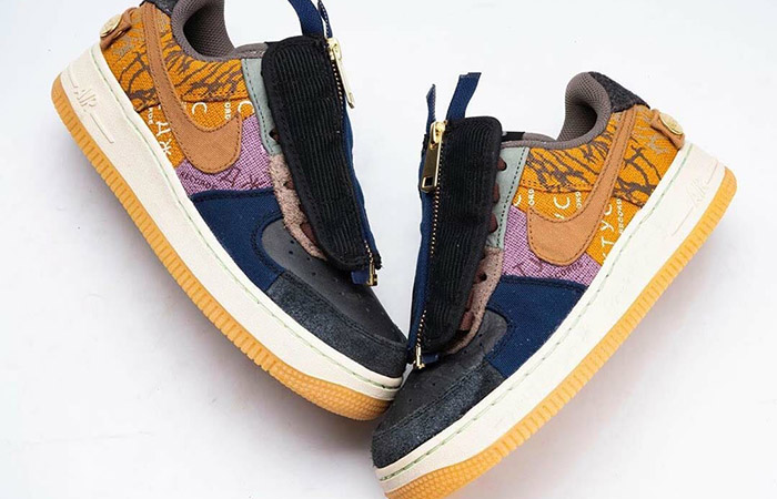 Official Images Of Travis Scott Nike Air Force 1 Low 'Cactus Jack' ft