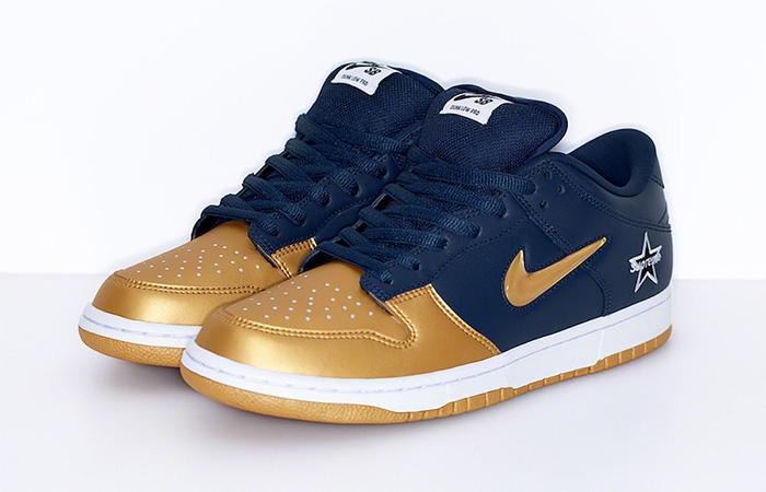 Supreme Nike SB Dunk Low Navy Metallic Gold CK3480-700 02
