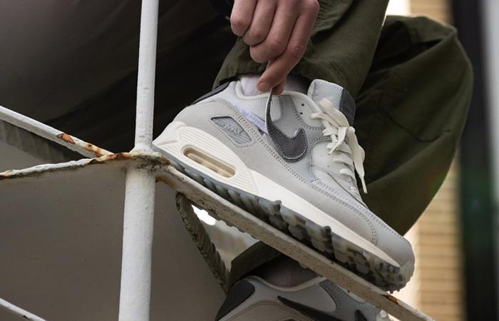 The Basement Nike Air Max 90 Metalic Silver CI9111-002 on foot 03