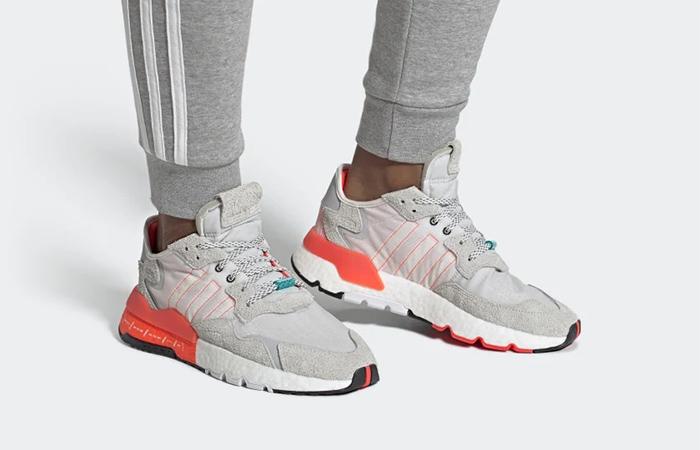 adidas Nite Jogger Big Logo Pack White Orange EH0249 on foot 01