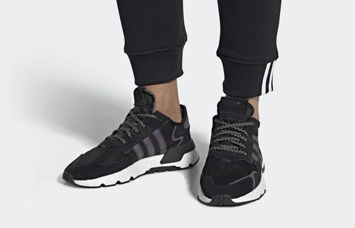najlepiej kochany buty jesienne taniej adidas Nite Jogger Black Silver