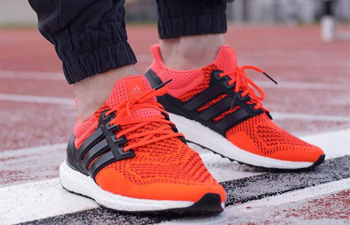 adidas Ultra Boost 1.0 Solar Red B34050 on foot 01