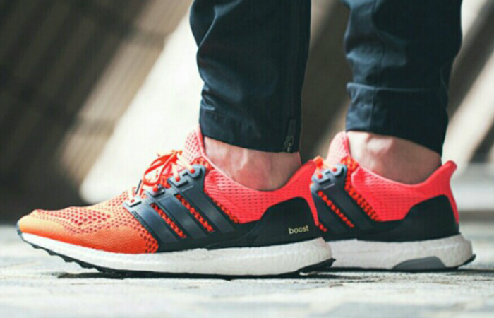 adidas Ultra Boost 1.0 Solar Red B34050 on foot 02
