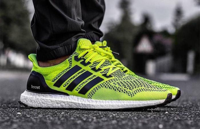 adidas Ultra Boost 1.0 Solar Yellow S77414 on foot 01