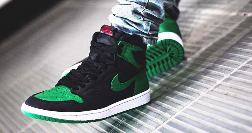 First On Foot Look At The Air Jordan 1 High Pine Green' 01