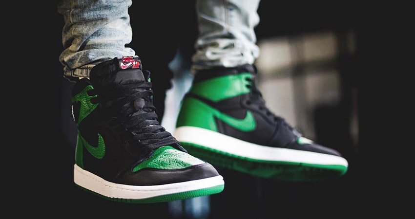 First On Foot Look At The Air Jordan 1 High Pine Green'