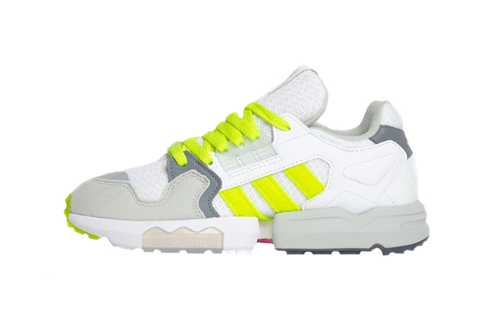 Footpatrol adidas ZX Torsion White Yellow EF7681 01