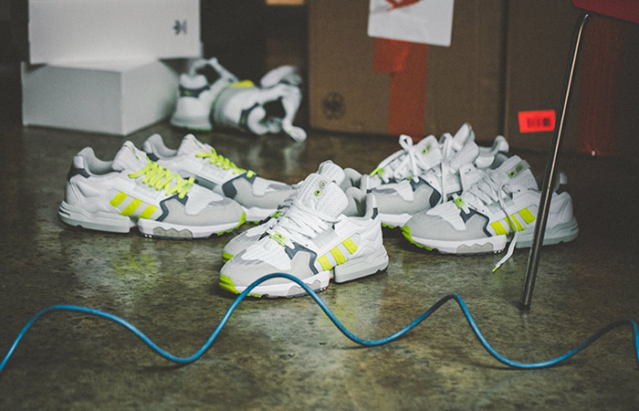 Footpatrol adidas ZX Torsion White Yellow EF7681 02