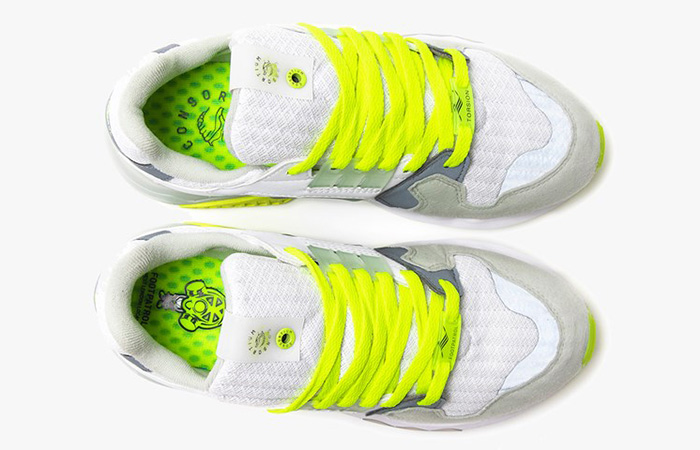 Footpatrol adidas ZX Torsion White Yellow EF7681 05