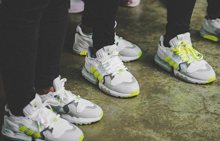 Footpatrol adidas ZX Torsion White Yellow EF7681 on foot 01