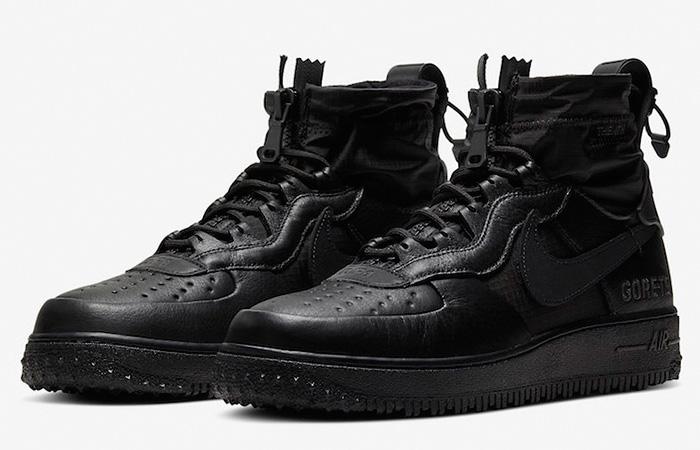 Gore-Tex Nike Air Force 1 High Black CQ7211-003 02