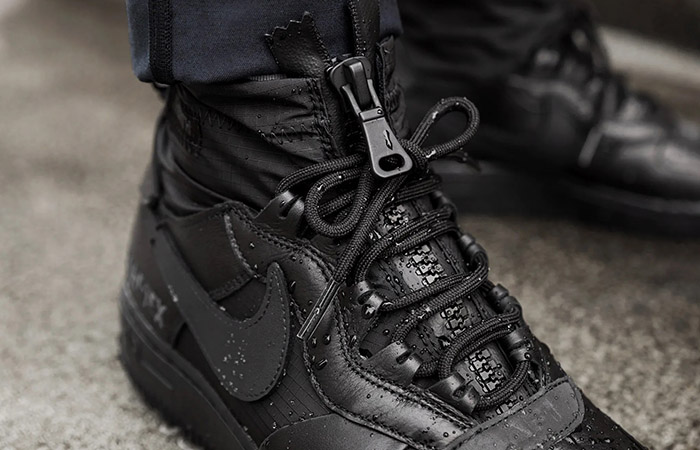 Gore-Tex Nike Air Force 1 High Black CQ7211-003 on foot 02
