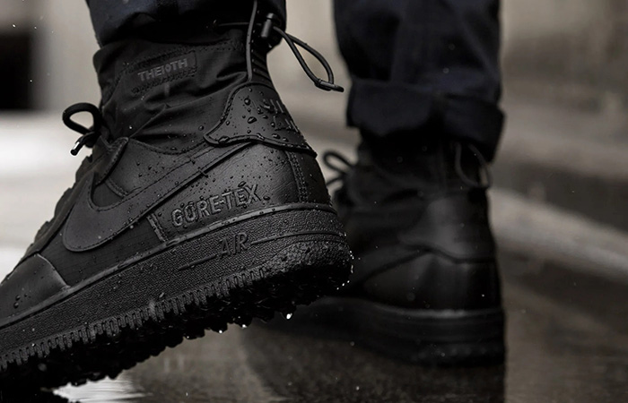 Gore-Tex Nike Air Force 1 High Black CQ7211-003 on foot 03