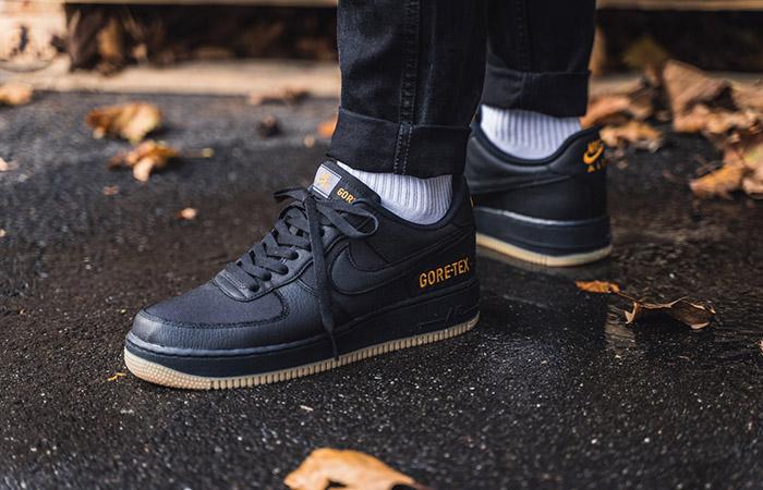 Gore-Tex Nike Air Force 1 Low Black CK2630-001 on foot 01