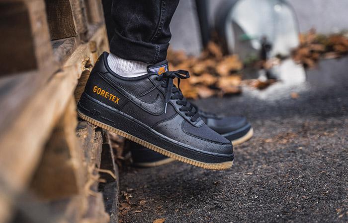 Gore-Tex Nike Air Force 1 Low Black CK2630-001 on foot 02