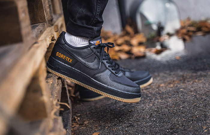 Gore-Tex Nike Air Force 1 Low Black CK2630-001 on foot 02