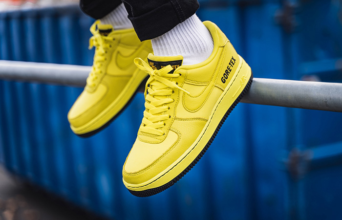 Gore-Tex Nike Air Force 1 Low Yellow CK2630-701 on foot 01