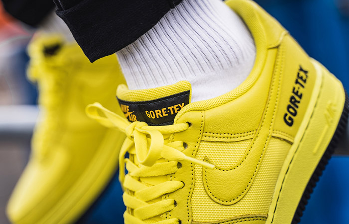 Gore-Tex Nike Air Force 1 Low Yellow CK2630-701 on foot 02