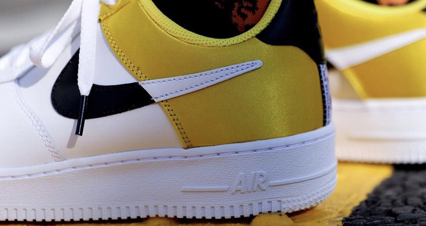 Here Is The On Foot Look At Upcoming Nike Air Force 1 07 LV8 NBA White Yellow 02