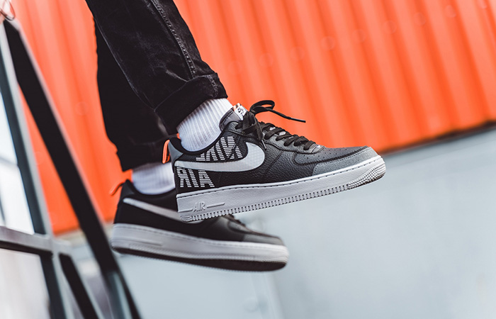 Nike Air Force 1 Low Under Construction Grey Black BQ4421-002 on foot 01