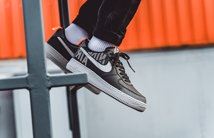 Nike Air Force 1 Low Under Construction Grey Black BQ4421-002 on foot 02