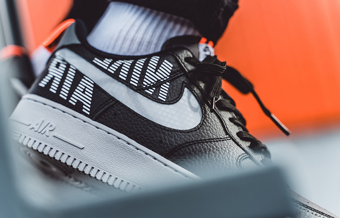Nike Air Force 1 Low Under Construction Grey Black BQ4421-002 on foot 03