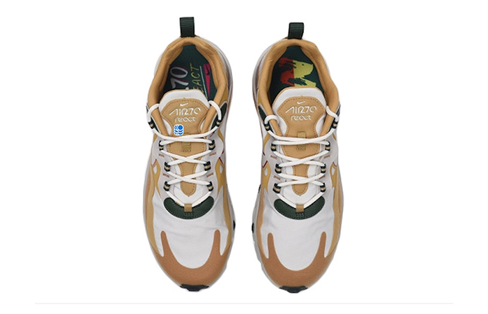 Nike Air Max 270 React Gold White AO4971-700 04