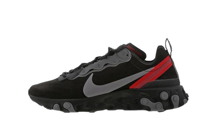 Nike React Element 55 Black Red CQ6366-001 01