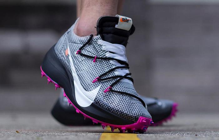 Off-White Nike Vapor Street Black Laser Fuchsia CD8178-001 on foot 02