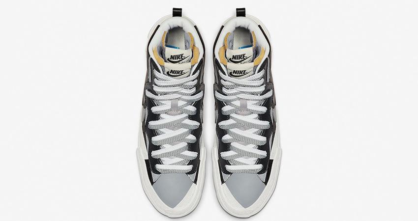 Sacai Nike Blazer Mid Debuting With Black And White Colour Combination 07