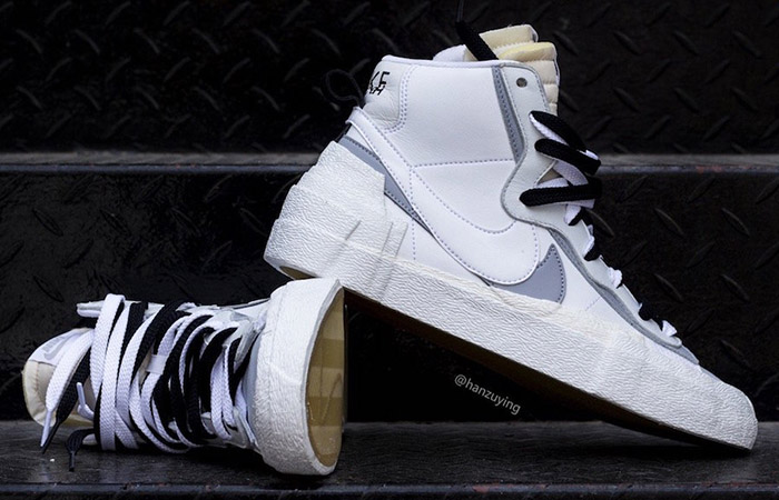 Sacai Nike Blazer Mid White Grey BV0072-100 02