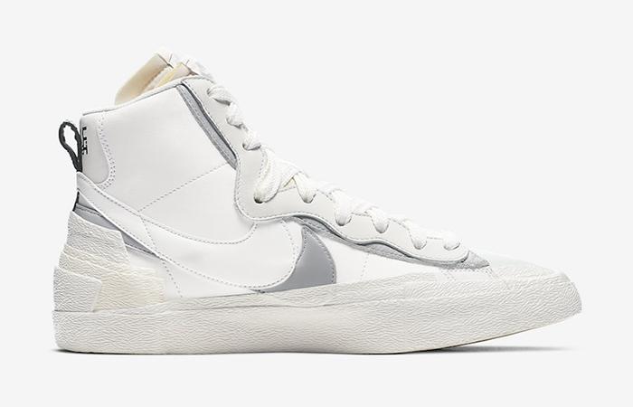 Sacai Nike Blazer Mid White Grey BV0072-100 06