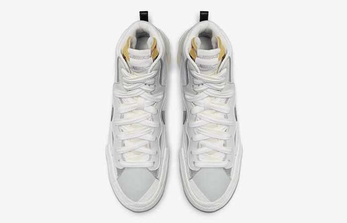 Sacai Nike Blazer Mid White Grey BV0072-100 07