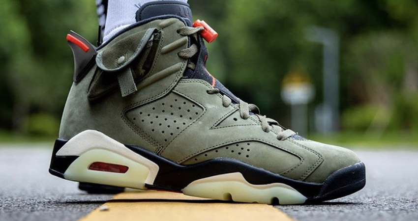 Travis Scott Air Jordan 6 Olive Has Become The Upcoming Hit!! 01