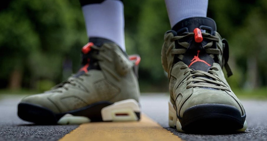 Travis Scott Air Jordan 6 Olive Has Become The Upcoming Hit!! 02