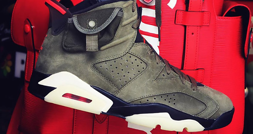 Travis Scott Air Jordan 6 Olive Has Become The Upcoming Hit!! 05