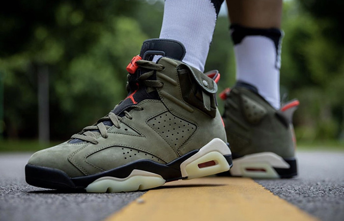 Travis Scott Air Jordan 6 Olive Has Become The Upcoming Hit!! ft