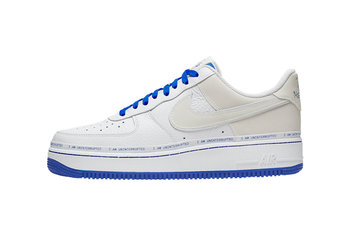 Uninterrupted Nike Air Force 1 White Blue CQ0494-100 01
