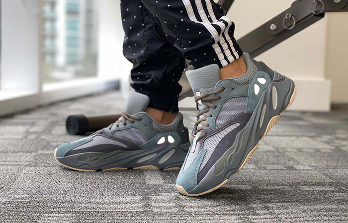 Your Best Look Yet At The adidas Yeezy 700 'Teal Blue' ft