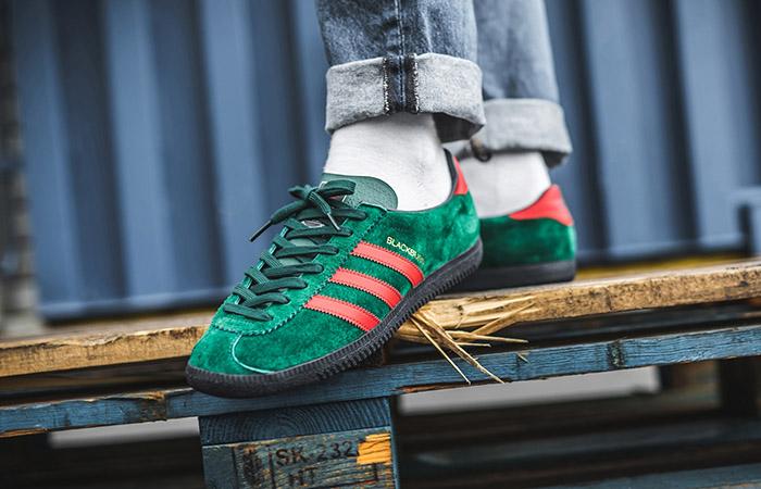 adidas Blackburg SPZL Red Green EF1158 on foot 01