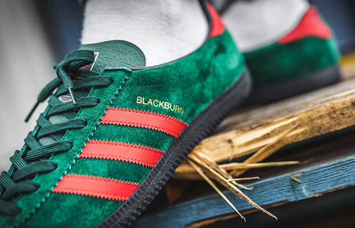 adidas Blackburg SPZL Red Green EF1158 on foot 02