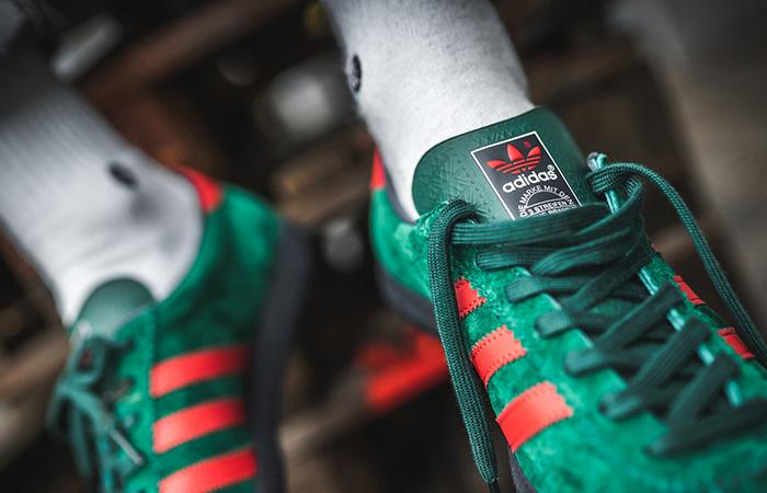 adidas Blackburg SPZL Red Green EF1158 on foot 03