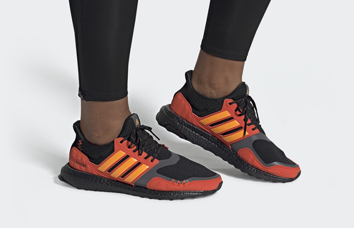 adidas Ultraboost S&L Halloween Edition Orange FV7283 on foot 01