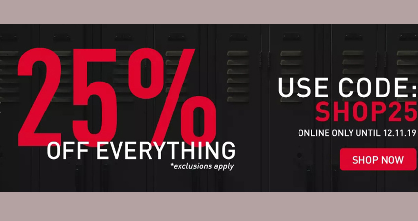 25% Off Everything At Foot Locker UK!!