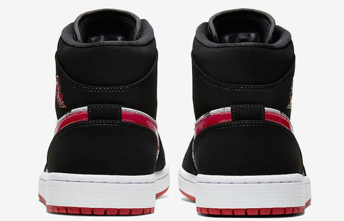 Air Jordan 1 Mid Black Red Newspaper 852542-061 08
