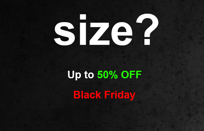 Enjoy BLACK FRIDAY By Getting Upto 50% Off At SizeUK ft
